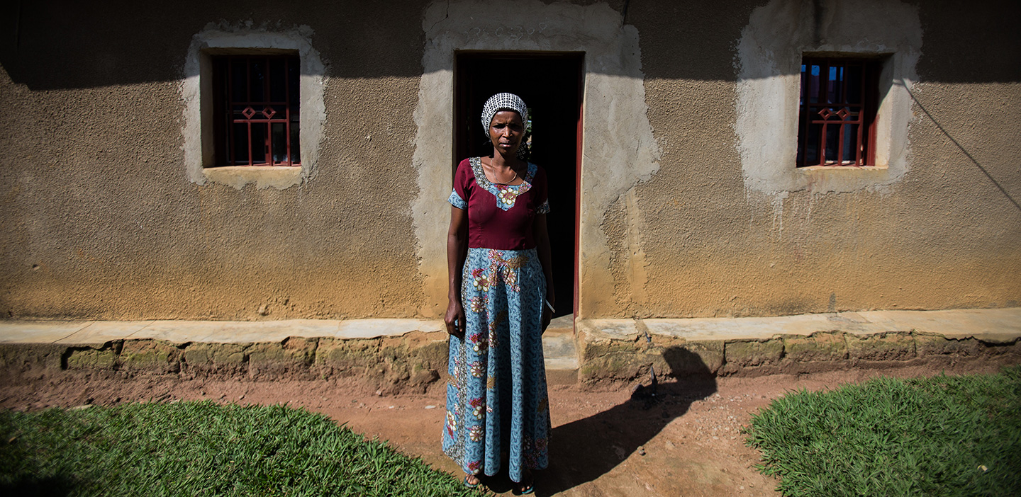 Strong woman: Jaqueline survived the genocide in Rwanda.
