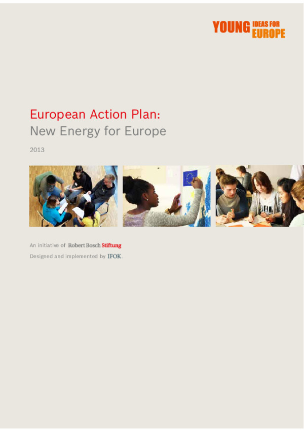 Bosch Publication European Action Plan: New Energy for Europe