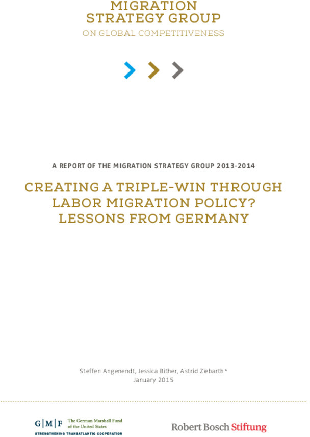 Bosch Publication Creating a Triple-Win through Labor Migration Policy? Lessons from Germany