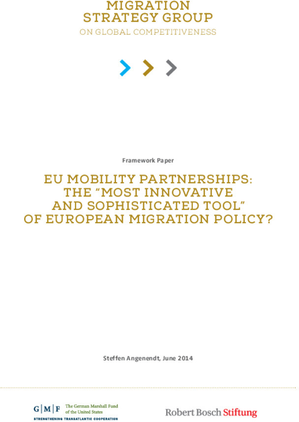 "Bosch Publication EU Mobility Partnerships: The ""Most Innovative and Sophisticated Tool"" of European Migration Policy?"
