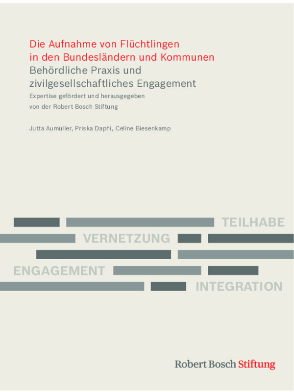 Bosch Publication Study: Acceptance of Refugees in German Federal States and Communities